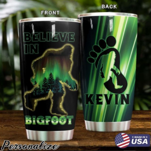 Believe in Bigfoot tumbler