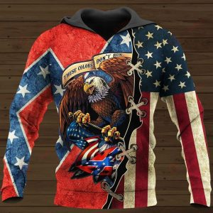 These colors Don't run They reload Confederate flag 3D All Over Printed Hoodie