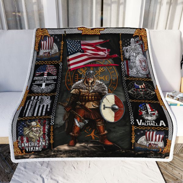 [Top-selling] american viking warrior until valhalla all over printed blanket - maria