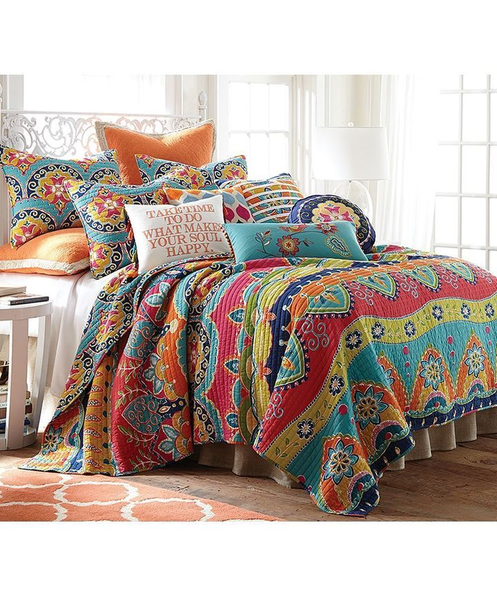 [Top-selling] blue red geometric stripe all over printed bedding set - maria