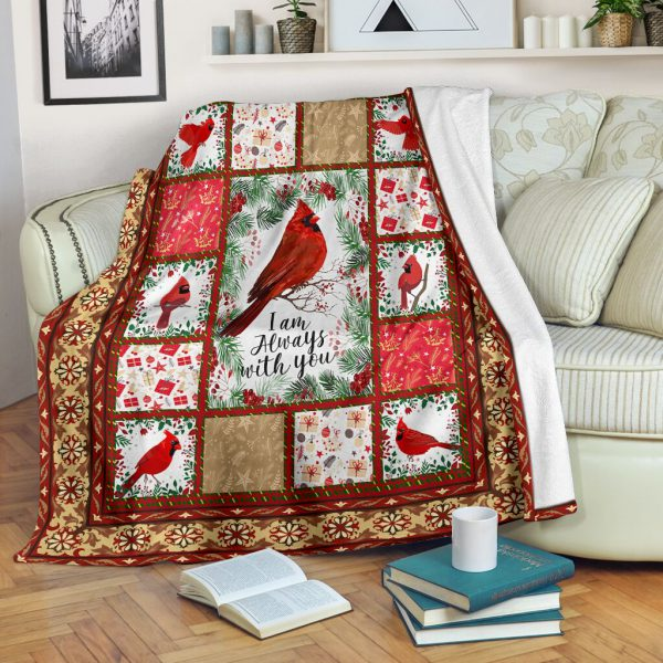 [Top-selling] christmas cardinal i am always with you full printing blanket - maria