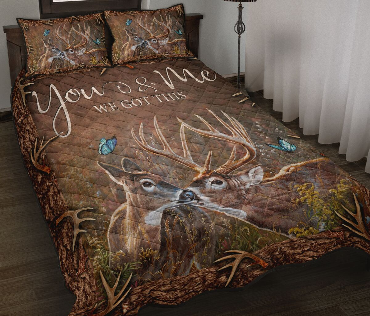 [Top-selling] deer hunter you and me we got this full printing bedding set - maria