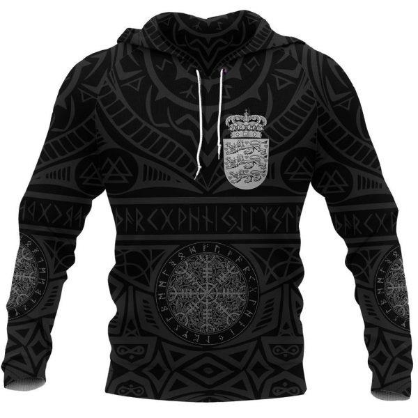 [Top-selling] denmark vikings tattoo all over printed shirt - maria