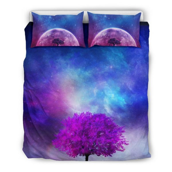[Top-selling] galaxy and moon all over printed bedding set - maria