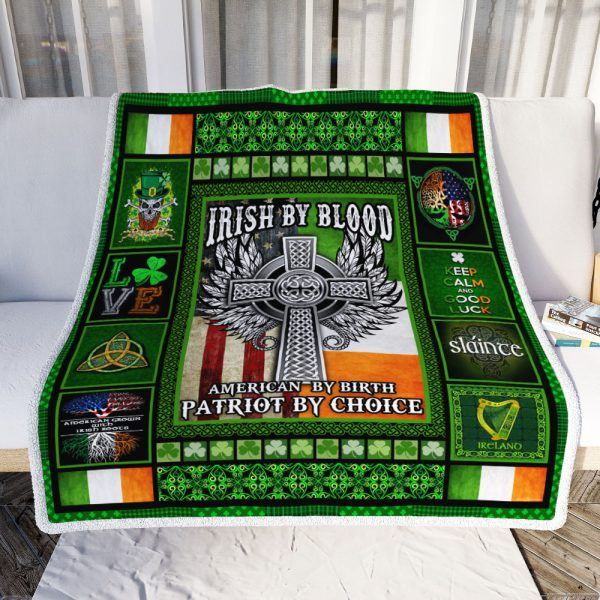 [Top-selling] irish by blood american by birth patriot by choice all over printed blanket - maria