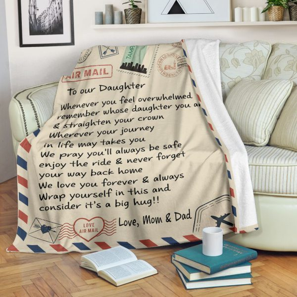 [Top-selling] love air mail to our daughter we love you forever and always full printing blanket - maria