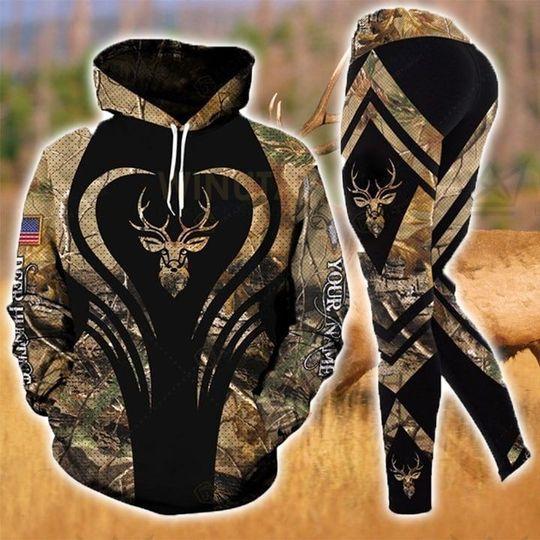 [Top-selling] love hunter deer hunting all over printed shirt - maria