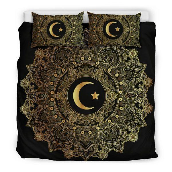 [Top-selling] mandala moon and star all over printed bedding set - maria