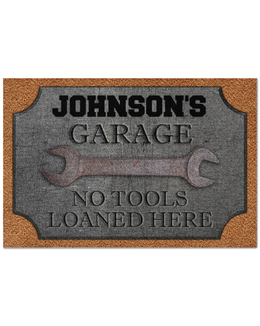 [Top-selling] personalized auto mechanic metal garage no tools loaned here full printing doormat - maria