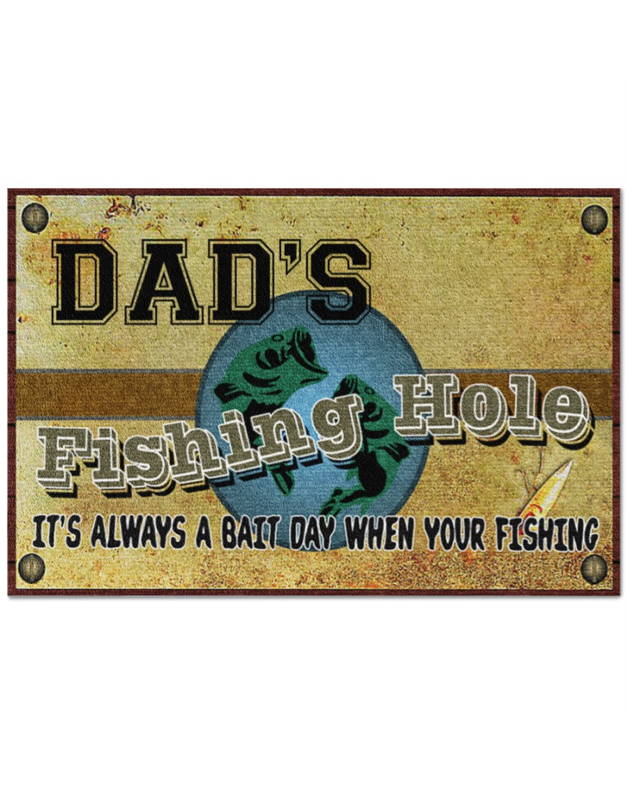 [Top-selling] personalized fishing hole its always a bait day when your fishing full printing doormat - maria