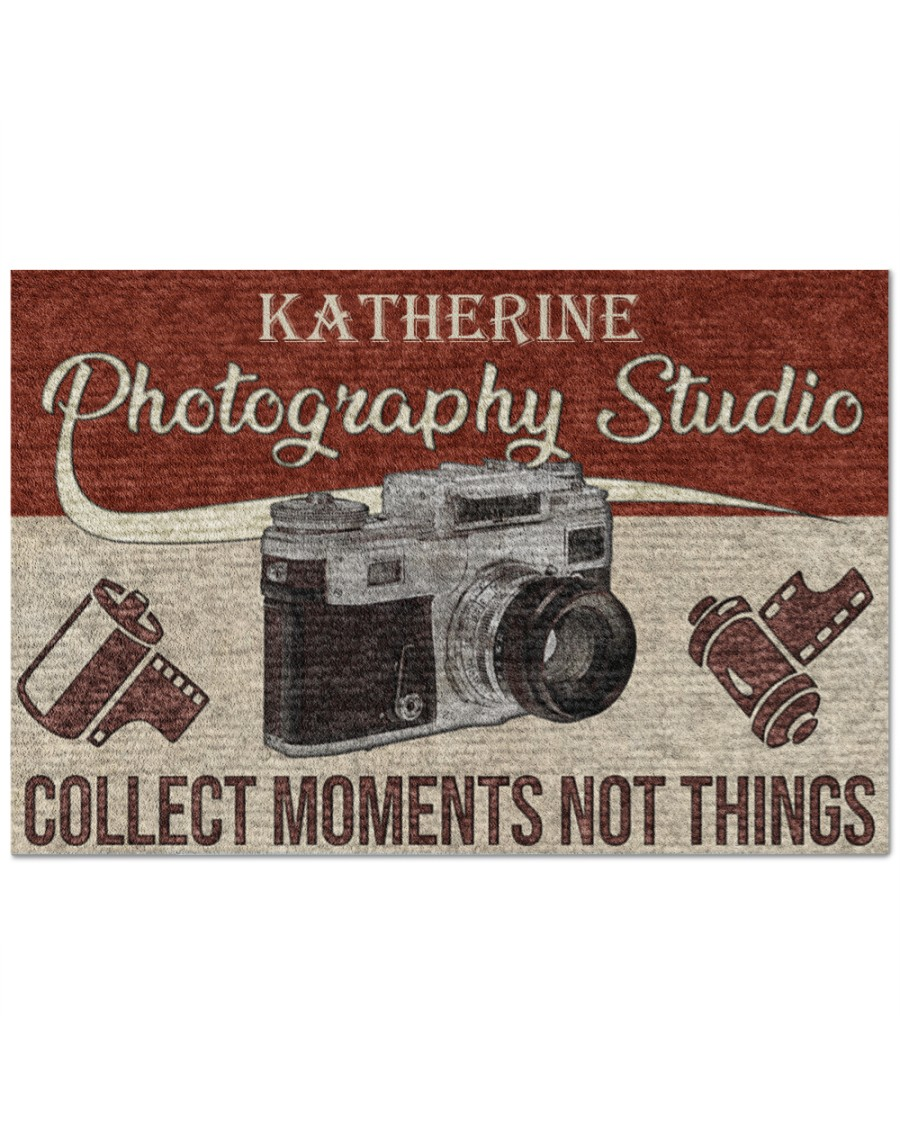 [Top-selling] personalized photography studio collect moments not things full printing doormat - maria