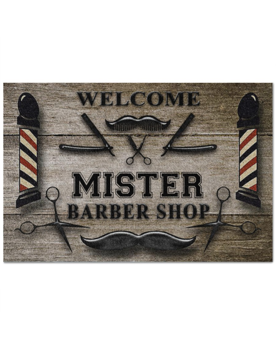 [Top-selling] personalized welcome barber shop full printing doormat - maria