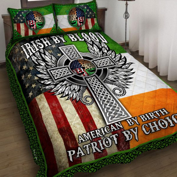 [Top-selling] st patricks day irish by blood american by birth patriot by choice all over printed bedding set - maria