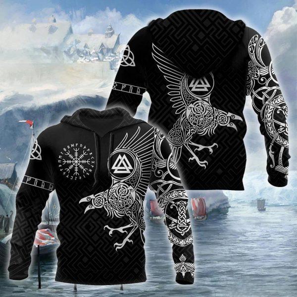 [Top-selling] the ravens on vikings full printing shirt - maria