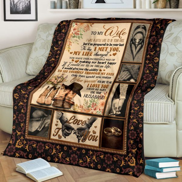 [Top-selling] to my wife the day i met you my life changed full printing blanket - maria