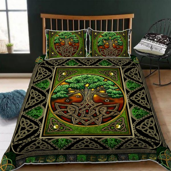 [Top-selling] tree of life irish tree of life st patricks day all over printed bedding set - maria