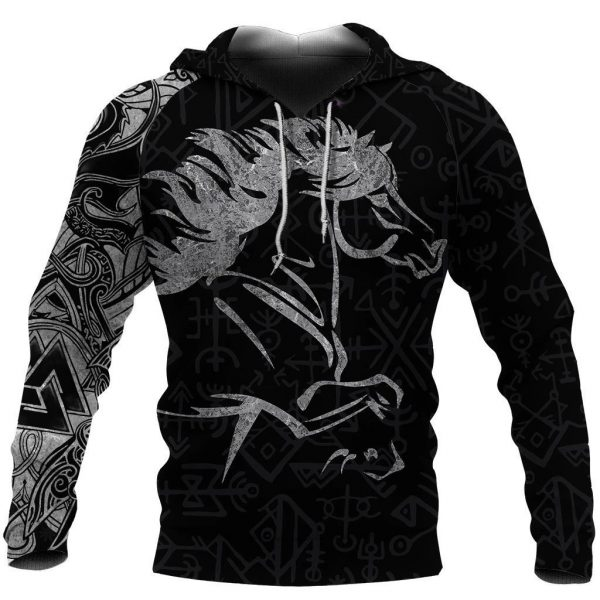 [Top-selling] viking icelandic horse all over printed shirt - maria