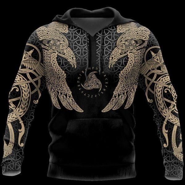 [Top-selling] viking muninn tattoo all over printed shirt - maria