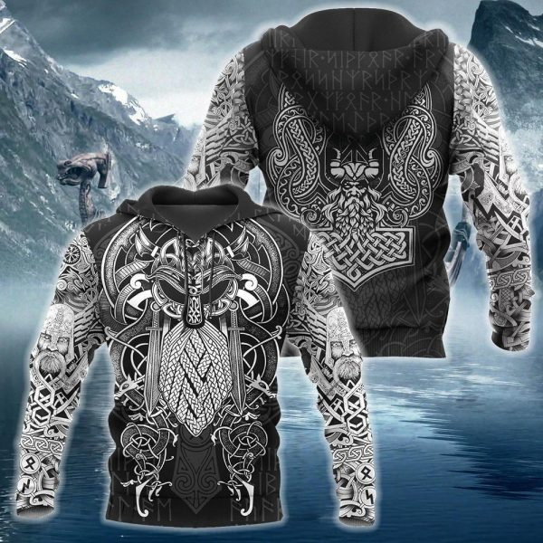 [Top-selling] viking odin valhalla all over printed shirt - maria