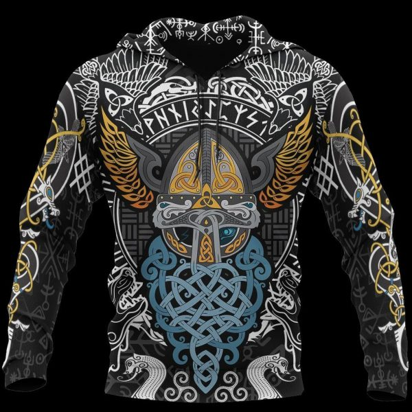 [Top-selling] viking odin wotan tattoo all over printed shirt - maria