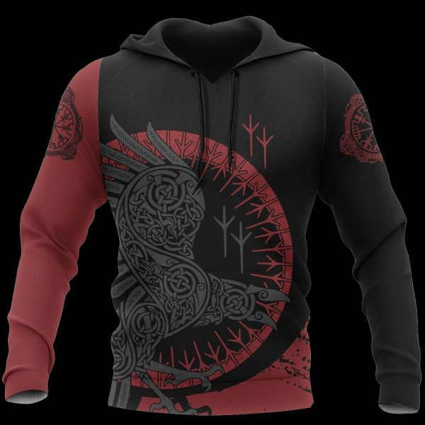 [Top-selling] viking raven all over printed shirt - maria