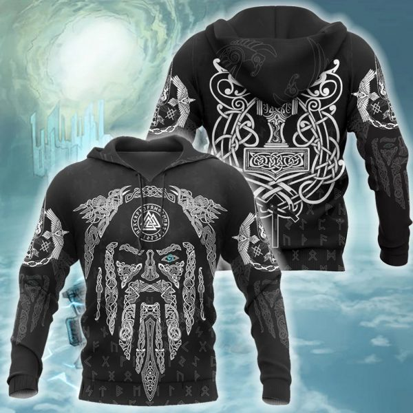 [Top-selling] viking raven and odin all over printed shirt - maria