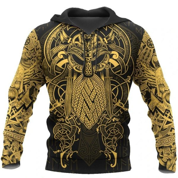 [Top-selling] viking the raven yellow of odin tattoo all over printed shirt - maria