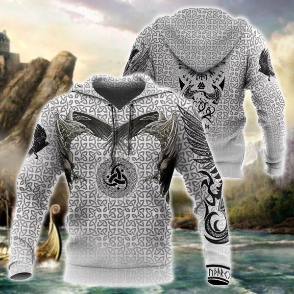 [Top-selling] viking vegvisir circle all over printed shirt - maria
