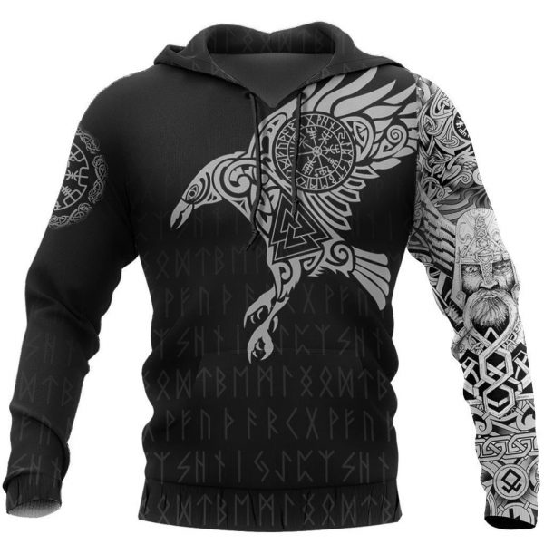 [Top-selling] vikings the raven of odin tattoo full printing shirt - maria