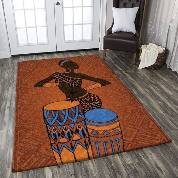 [Top-selling] vintage african women aztec tribal ethnic all over printed rug - maria