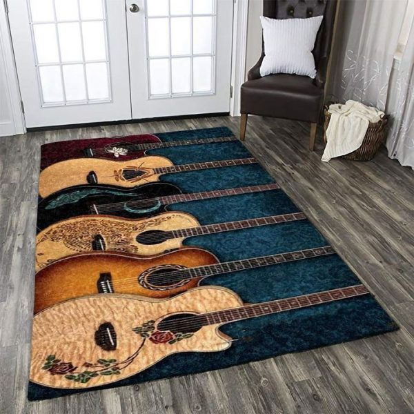 [Top-selling] vintage guitar fan all over printed rug - maria