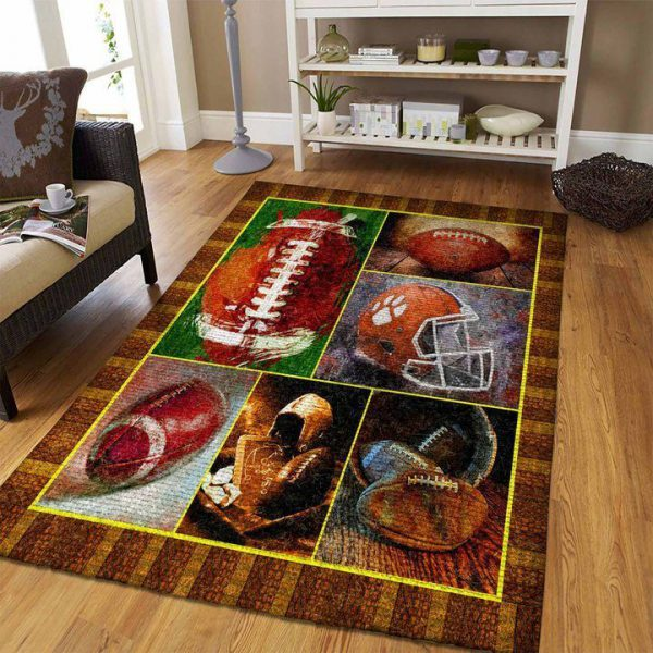 [Top-selling] watercolor american football all over printed rug - maria