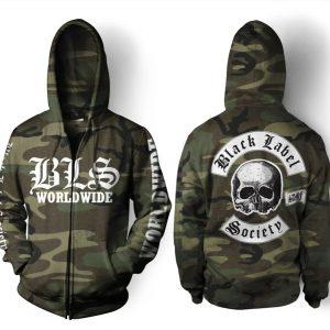 Black Label Society Worldwide Camo 3d Zip hoodie - hothot 230320