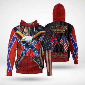 Eagle confederate flag american 3d