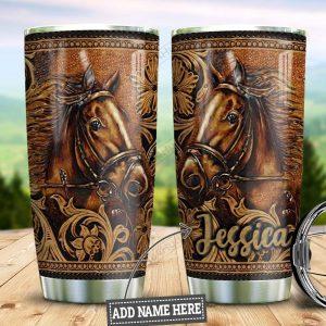 Personalized custom name horse tumbler