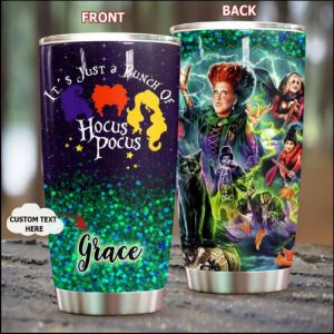 PERSONALIZED IT'S JUST A BUNCH OF HOCUS POCUS TUMBLER