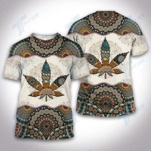 Weed mandala all over printed shirt and sweatshirt