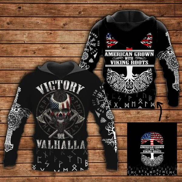 [Top-selling] american grown viking roots all over printed shirt - maria