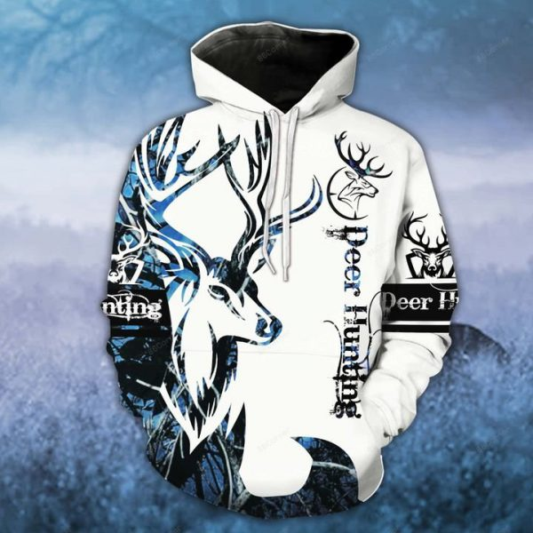 [Top-selling] blue neon deer hunting for hunter all over printed shirt - maria