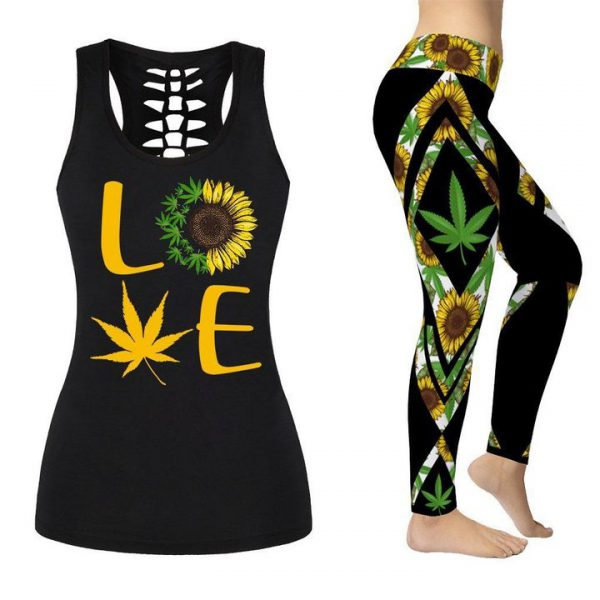 [Top-selling] cannabis sunflower all over printed shirt - maria