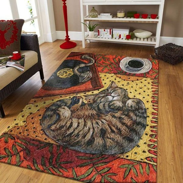 [Top-selling] cat lovers vintage cat and music all over printed area rug - maria
