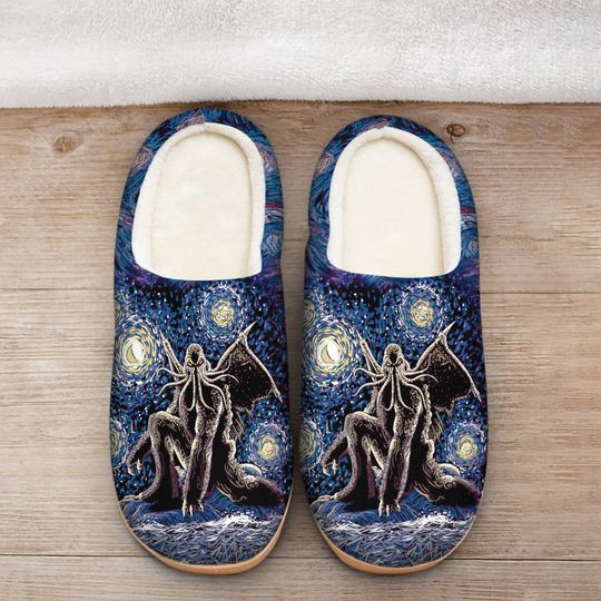 [Top-selling] cthulhu mythos in night all over printed slippers - maria