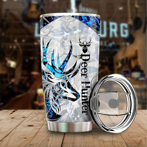 [Top-selling] deer hunter love hunting all over print stainless steel tumbler - maria