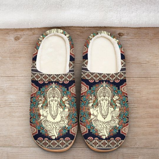 [Top-selling] hippie mandala man all over printed slippers - maria