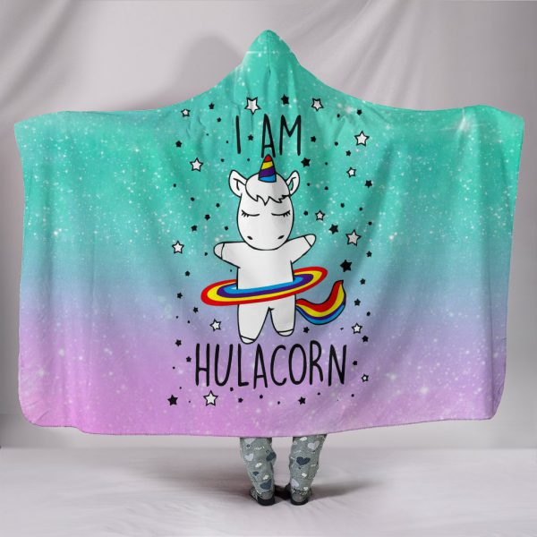 [Top-selling] i am hulacorn unicorn galaxy full printing hooded blanket - maria