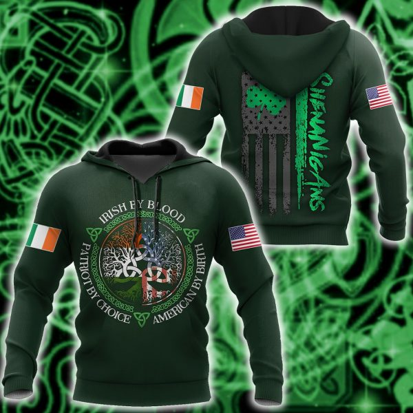 [Top-selling] irish by blood american by birth patriot by choice tree of life all over printed shirt - maria