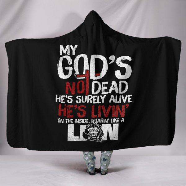 [Top-selling] my God's not dead full printing hooded blanket - maria