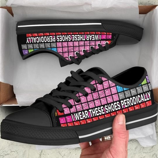 [Top-selling] periodic table i wear these shoes periodically low top shoes - maria