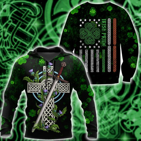 [Top-selling] saint patricks day irish pride and sword full printing shirt - maria