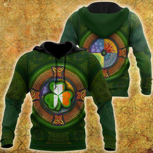 [Top-selling] saint patricks day shamrock ireland flag all over printed shirt - maria